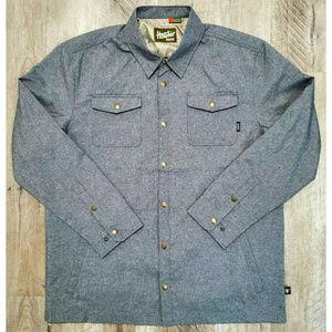 Howler Bros. Mens Roadrunner Gray Shell Jacket XL